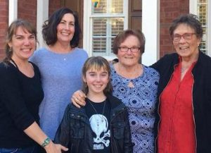 Marsha Bond (far right) with her family.