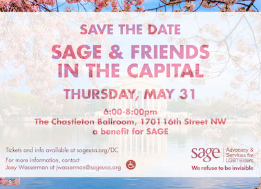 SAGE and Friends DC invitation