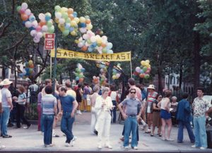 SAGE breakfast at Pride march in the 1980s