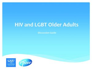 HIV and LGBT Older Adults: Discussion Guide