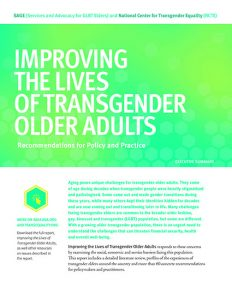 Snapshot: Key Challenges Facing Transgender Older Adults