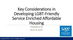 Key Considerations in Developing LGBT-Friendly Service Enriched Affordable Housing