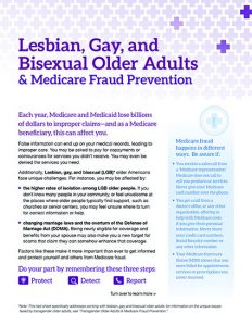 Lesbian, Gay, and Bisexual Older Adults & Medicare Fraud Prevention