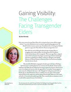 Gaining Visibility: The Challenges Facing Transgender Elders