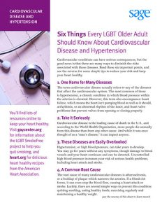 Six Things Every LGBT Older Adult Should Know About Cardiovascular Disease and Hypertension