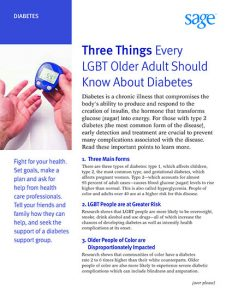 Three Things Every LGBT Older Adult Should Know About Diabetes