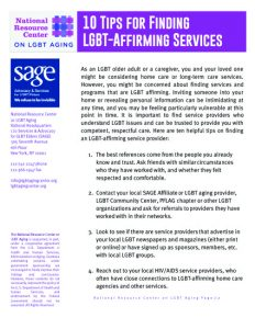 10 Tips for Finding LGBT-Affirming Services