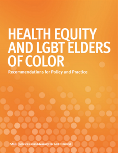 Health Equity and LGBT Elders of Color: Recommendations for Policy and Practice
