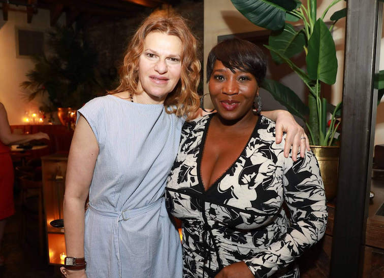 Sandra Bernhard and Bevy Smith at SAGE Table 2017.