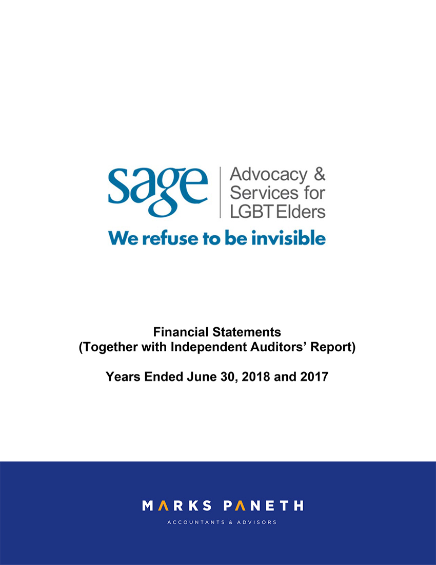 SAGE Financial Statements 2018