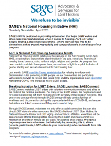 NHI Quarterly Newsletter April 2020