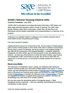 NHI Quarterly Newsletter July 2020