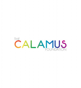 Calamus Foundation logo in white square