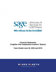 SAGE: Financial Statements 2020