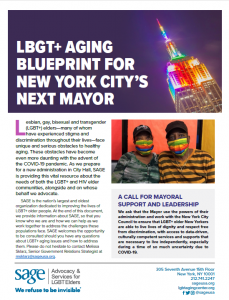 LGBT+ Aging Blueprint For New York City's Next Mayor