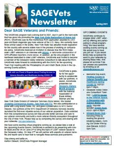 SAGEVets Newsletter Spring 2021