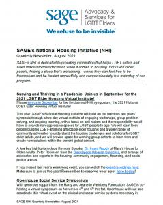 NHI Quarterly Newsletter August 2021