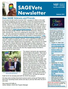SAGEVets Newsletter Summer 2021