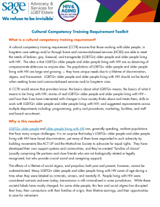 Cultural Competency Training Requirement Toolkit