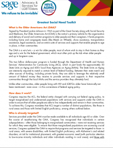 HIV and Aging Policy Action Coalition (HAPAC) Greatest Social Need Toolkit